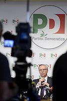 Roma, 6 Novembre 2013<br /> Sede nazionale del Partito Democratico.<br /> Conferenza stampa sulle prime fasi del congresso.<br /> Nella foto:  Guglielmo Epifani segretario del Partito Democratico