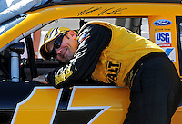 Apr 17, 2009; Avondale, AZ, USA; NASCAR Sprint Cup Series driver Matt Kenseth during qualifying for the Subway Fresh Fit 500 at Phoenix International Raceway. Mandatory Credit: Mark J. Rebilas-
