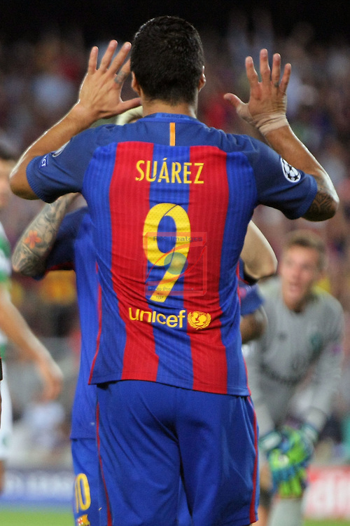 UEFA Champions League 2016/2017 - Matchday 1.<br /> FC Barcelona vs Celtic FC: 7-0.<br /> Luis Suarez.