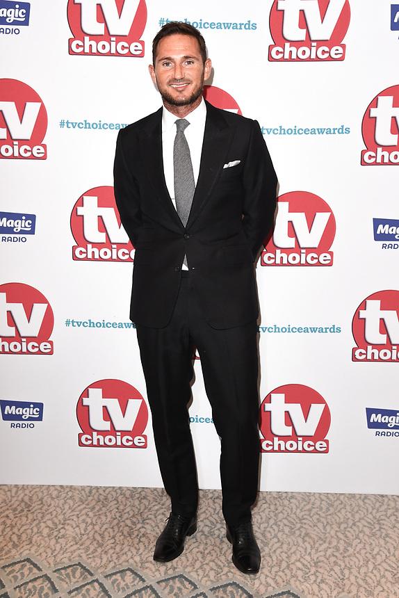 Frank Lampard<br /> arriving for the TV Choice Awards 2017 at The Dorchester Hotel, London. <br /> <br /> <br /> ©Ash Knotek  D3303  04/09/2017