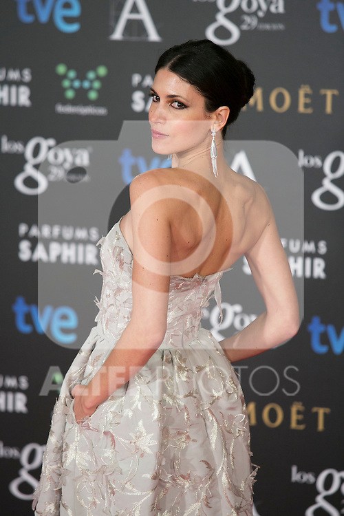 Nerea Barros attend the 2015 Goya Awards at Auditorium Hotel, Madrid,  Spain. February 07, 2015.(ALTERPHOTOS/)Carlos Dafonte)