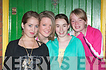 Enjoying: At the Cailin Alainn Festival in Lixnaw on Friday night were from left, Tara Buckley, Samantha Stackpoole, Jennifer Conway and Gloria Keane..