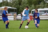 Aaron Connolly (At age 13) of Mervue United in action against the Roscommon and District Soccer League.<br /> <br /> 9/8/13, Macron Galway Cup, Salthill Devon FC, Drom, Co. Galway.