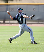 James Paxton #53 of the Seattle Mariners participates in spring training workouts at the Mariners minor league complex on March 19, 2011  in Peoria, Arizona. .Photo by:  Bill Mitchell/Four Seam Images.