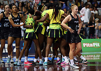 24.02.2018 Silver Ferns Samantha Sinclair after the Silver Ferns v Jamaica Taini Jamison Trophy netball match at the North Shore Events Centre in Auckland. Mandatory Photo Credit ©Michael Bradley.