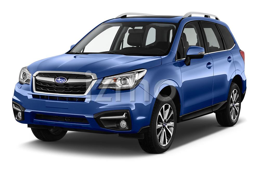 2017 Subaru Forester Premium 5 Door SUV angular front stock photos of front three quarter view