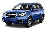 2017 Subaru Forester Premium 5 Door SUV angular front stock photos of front three quarter view