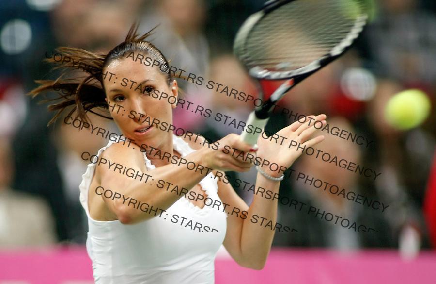 Tenis, FED CUP, world group B.Serbia Vs. Japan.Jelena Jnkovic Vs. AI SUgiyama.Jelena Jankovic.Beograd, 08.02.2009. .Photo: © Srdjan Stevanovic/Starsportphoto.com