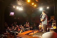 Martin Leon. Stand up comedy in cafe 22, Colonia Condesa, Mexico DF