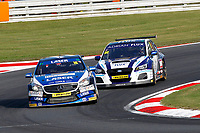 Round 10 of the 2018 British Touring Car Championship.  #16 Aiden Moffat. Laser Tools Racing. Mercedes Benz A-Class