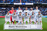 Players of Real Madrid line up and pose for photos prior to the La Liga 2017-18 match between Real Madrid and Deportivo Alaves  at Santiago Bernabeu Stadium on February 24 2018 in Madrid, Spain. Photo by Diego Souto / Power Sport Images