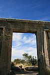 Israel, Upper Galilee, ruins of the ancient Synagogue at Meron