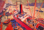 Andre Derain (1880-1954)     'El puerto de Londres', 1906, Óleo sobre lienzo, 65,7 x 99,1 cm. 1906. Credit: Album / Joseph Martin