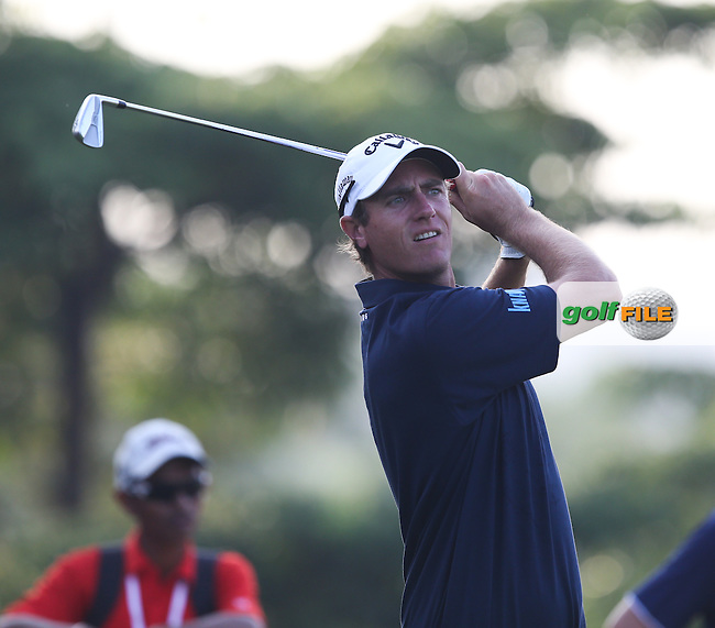 Nicolas Colsaerts (BEL) raised his game during Round One to card a 66 of the 2014 Maybank Malaysian Open at the Kuala Lumpur Golf & Country Club, Kuala Lumpur, Malaysia. Picture:  David Lloyd / www.golffile.ie
