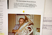 Mission statement and fan mail at the Tuba Exchange in Durham, N.C.