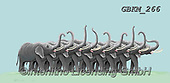 Kate, CUTE ANIMALS, LUSTIGE TIERE, ANIMALITOS DIVERTIDOS, paintings+++++Elephants line up,GBKM266,#ac#, EVERYDAY