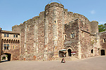Historic castle keep within Berkeley castle, Gloucestershire, England, UK built by Robert Fitzharding in 12th century