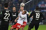 05.11.2018,  GER; 2. FBL, Hamburger SV vs 1.FC Koeln 1848 ,DFL REGULATIONS PROHIBIT ANY USE OF PHOTOGRAPHS AS IMAGE SEQUENCES AND/OR QUASI-VIDEO, im Bild Jann-Fiete Arp (Hamburg #15) und Rick van Drongelen (Hamburg #04) versuchen sich gegen Jorge Mere Perez (Koeln #22) und S. Guirassy (Koeln #19) durchzusetzen Foto © nordphoto / Witke *** Local Caption ***