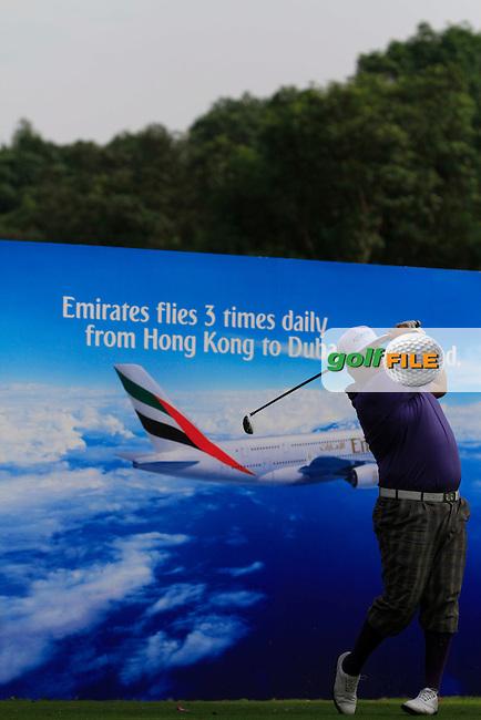 Joel Sjoholm (SWE) on the 7th tee during Round 1 of the UBS Hong Kong Open 2012, Hong Kong Golf Club, Fanling, Hong Kong. 15/11/12...(Photo Jenny Matthews/www.golffile.ie)