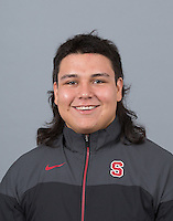 STANFORD, CA - SEPTEMBER 24, 2014--Zach Rios, with Stanford University Men's Wrestling.