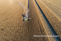 63801-13011 Harvesting corn in fall-aerial  Marion Co. IL