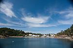 The town of East Sound, Orcas Island, San Juan Islands, Washington