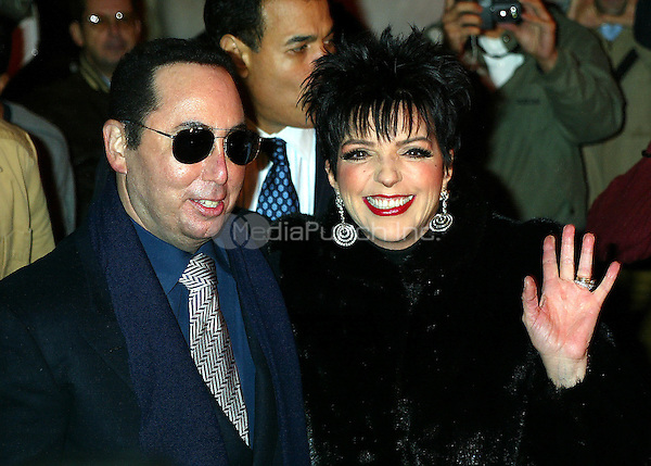 Liza Minnelli and her husband David Gest at Liza's<br /> Personal Appearance and CD Signing to promote her New Live CD Liza's Back held at Tower Records in New York City.<br /> October 29, 2002<br /> &copy; Joseph Marzullo / MediaPunch