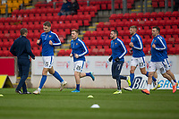 29th December 2019; McDairmid Park, Perth, Perth and Kinross, Scotland; Scottish Premiership Football, St Johnstone versus Ross County; St Johnstone warm up before the match - Editorial Use