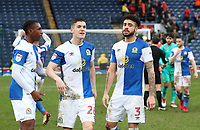 Blackburn Rovers' Amari'i Bell, Blackburn Rovers' Darragh Lenihan and Blackburn Rovers' Derrick Williams at the end of todays match<br /> <br /> Photographer Rachel Holborn/CameraSport<br /> <br /> The EFL Sky Bet League One - Blackburn Rovers v Blackpool - Saturday 10th March 2018 - Ewood Park - Blackburn<br /> <br /> World Copyright &copy; 2018 CameraSport. All rights reserved. 43 Linden Ave. Countesthorpe. Leicester. England. LE8 5PG - Tel: +44 (0) 116 277 4147 - admin@camerasport.com - www.camerasport.com