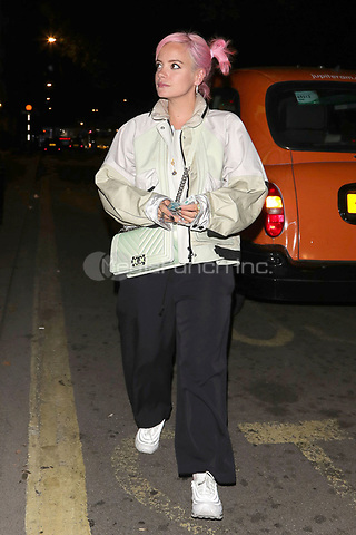 Lily Allen is pictured arriving at Annabels Club for Drake's Scorpion Release Party in London.<br /> <br /> JULY 10th 2018<br /> <br /> REF: MNI 182531 _<br /> Credit: Matrix/MediaPunch ***FOR USA ONLY***