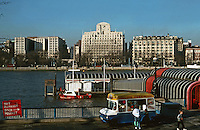 London:  Thameside Walk #1.  Shell-Mex House 1931.  Photo Jan. '90.