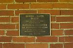 1829 Hower-Sloan House- National Historic Register signage.