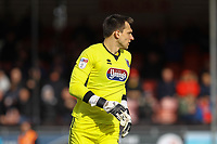 James McKeown of Grimsby Town during Crawley Town vs Grimsby Town, Sky Bet EFL League 2 Football at Broadfield Stadium on 9th March 2019