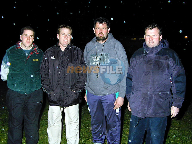 Sydden GFC.Gerry Dillon Chairman, Paul McKenna, Shane McENtee and Peter Landy.Picture by Fran Caffrey Newsfile