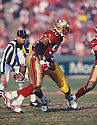 San Francisco 49ers Junior Bryant (90) during a game against the St. Louis Rams at 3Com Park in San Francisco, California on December 27, 1998. The 49ers beat the Rams 38-19 . Junior Bryant played for 6 years, all with the 49ers.