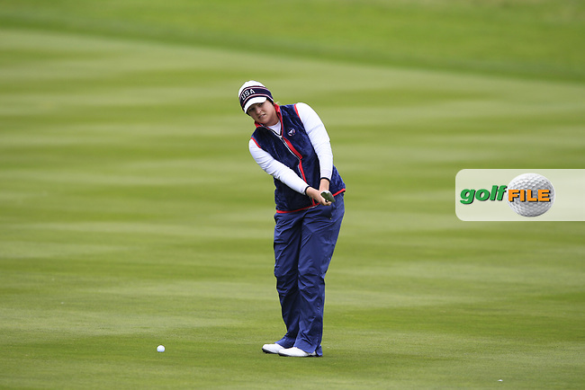 Ally McDonald of Team USA on the 2nd during Day 2 Fourball at the Solheim Cup 2019, Gleneagles Golf CLub, Auchterarder, Perthshire, Scotland. 14/09/2019.<br /> Picture Thos Caffrey / Golffile.ie<br /> <br /> All photo usage must carry mandatory copyright credit (© Golffile   Thos Caffrey)