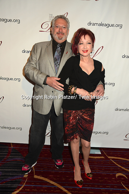 Harvey Fierstein and Cyndi Lauper attends the 79th Annual Drama League Awards Ceremony and Luncheon on May 17, 2013 at the Marriott Marquis Hotel in New York City.