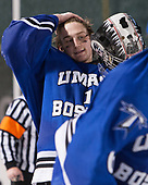 Bailey MacBurnie (UMB - 1) - The UMass Boston Beacons defeated the Babson College Beavers 5-1 on Thursday, January 12, 2017, at Fenway Park in Boston, Massachusetts.