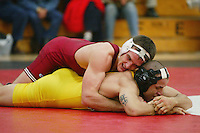 23 November 2004: Matt Gentry during Stanford's wrestling match against USF in the Ford Center in Stanford, CA.