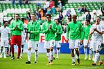 05.08.2017, Weser Stadion, Bremen, FSP, SV Werder Bremen (GER) vs FC Valencia (ESP) , <br /> <br /> im Bild | picture shows<br /> die Mannschaft des SV Werder bedankt sich bei den Fans, <br /> <br /> Foto © nordphoto / Rauch