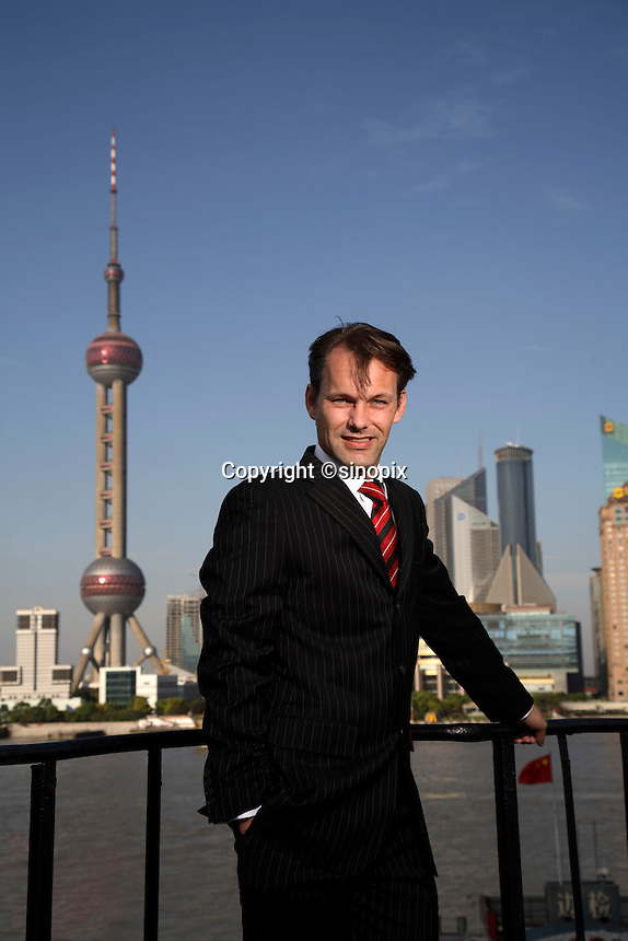 Tim Leviny, General Manager of Elders Limited's China office, photographed near the Bund in Shanghai, China, on Monday 10 September 2007.