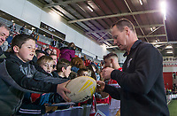 Picture by Allan McKenzie/SWpix.com - 06/04/2018 - Rugby League - Betfred Super League - St Helens v Hull FC - The Totally Wicked Stadium, Langtree Park, St Helens, England - Justin Holbrook signs autographs for the fans.