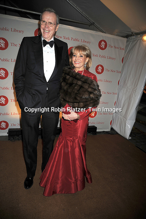 Donald Marron and Barbara Walters..arriving at The New York Public Library 2008 Library Lions Benefit Gala on November 3, 2008 at The New York Public Library at 42nd Street and 5th Avenue.....Robin Platzer, Twin Images