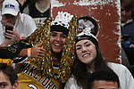 WINSTON-SALEM, NC - JANUARY 23: Wake Forest students. The Wake Forest University Demon Deacons hosted the Duke University Blue Devils on January 23, 2018 at Lawrence Joel Veterans Memorial Coliseum in Winston-Salem, NC in a Division I men's college basketball game. Duke won the game 84-70.