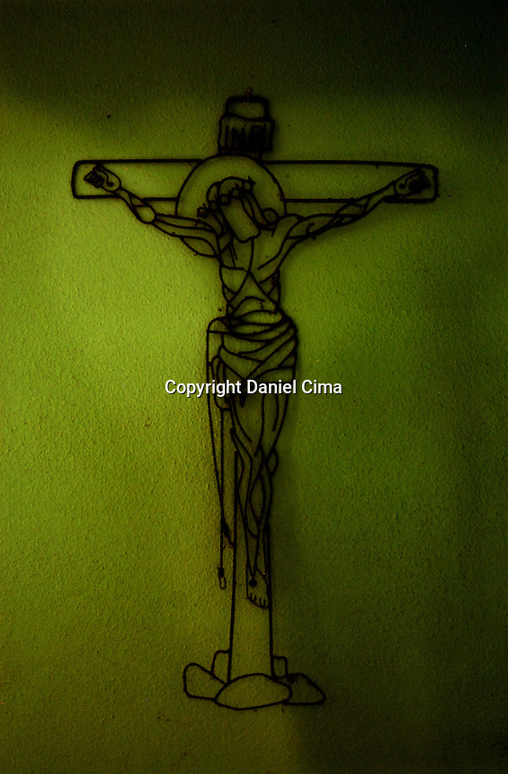 Image of catholic cross in Olinda, Brazil. 2008