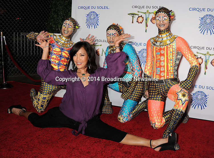 Pictured: Carrie Ann Inaba<br /> Mandatory Credit &copy; Gilbert Flores/Broadimage<br /> Cirque du Soleil Totem - Celebrity Opening <br /> <br /> 1/21/14, Santa Monica, California, United States of America<br /> <br /> Broadimage Newswire<br /> Los Angeles 1+  (310) 301-1027<br /> New York      1+  (646) 827-9134<br /> sales@broadimage.com<br /> http://www.broadimage.com