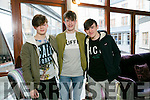 At the Gaelcholáiste Chiarraí TY Fashion Show at the Rose Hotel on Tuesday were Evan Loham, Alex O'Shea and Ethan Dalton