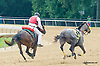 Ms. Scarlet Fever running away at Delaware Park on 8/29/15