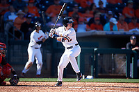 Oregon State Beavers Richie Mascareñas (13) at bat during an NCAA game against the New Mexico Lobos at Surprise Stadium on February 14, 2020 in Surprise, Arizona. (Zachary Lucy / Four Seam Images)