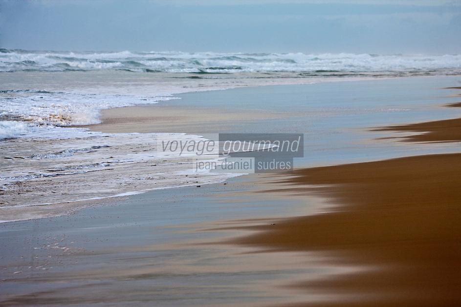 Europe/France/Aquitaine/40/Landes/Biscarosse-Plage: La plage